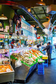 Stand at famous Pike Place market in Seattle — Stock Photo