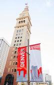 Denver begrüßt Sie Zeichen — Stockfoto