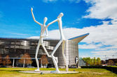 The Dancers public sculpture in Denver — Stock Photo