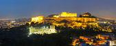 Panoramica panoramica di atene con acropoli — Foto Stock