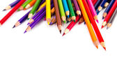Colour pencils isolated — Stock Photo