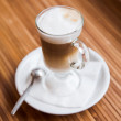 Stock Photo: Glass of capuccino
