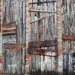 Old wooden and brick wall — Stockfoto #21370685