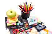 School and office stationary. Back to school concept — Foto Stock
