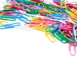 Multicolored paper clips — ストック写真