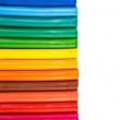 Rainbow colors plasticine bars, modeling clay — Stock Photo