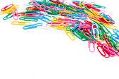 Multicolored paper clips — Stock Photo