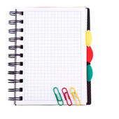 Office notebook. Back to school concept. Post it note. — Stock Photo