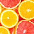 Orange and grapefruit background — Stock Photo