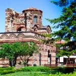 vacker utsikt över nesebar, den antika staden på Svarta havets kust i Bulgarien — Stockfoto