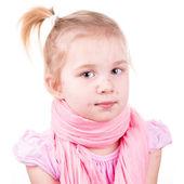 Chory dziewczynka z ospa wietrzna — Zdjęcie stockowe