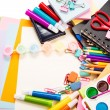 School and office stationary. Back to school concept — Stock Photo #24011159
