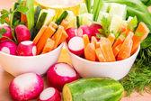 Fresh vegetables ready to eat — Stock Photo
