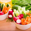 Stock Photo: Fresh vegetables ready to eat