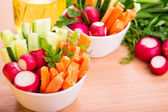 Fresh vegetables ready to eat — Stock Photo