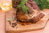 Grilled pork steak meat — Stock Photo