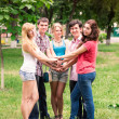 Group of happy smiling Teenage Students — Stock Photo #27004613