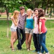 Group of happy smiling Teenage Students — Stock Photo #27004627