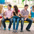 Group of happy smiling Teenage Students Outside — Stock Photo #27742677