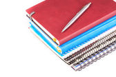 Note book for taking notes with a pen — Stock Photo