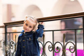 Cute little child in shopping mall — Stock Photo