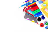 Office stationary. Back to school concept — Stock Photo