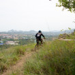 Downhill mountain bike racing - Stock Photo