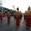 Phranakhonkhiri festival parade 2013 on street - Stock Photo
