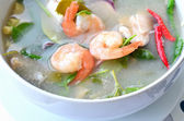 Shrimp soup, Tom Yum Goong — Stock Photo