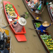 Damnernsaduak floating market Thailand — Stock Photo