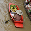 Stock Photo: Damnernsaduak floating market Thailand