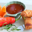 Stock Photo: Veg spring rolls
