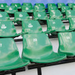 Stock Photo: Stadium seats