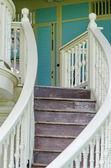Old teak wood stairs — Foto de Stock