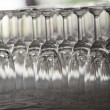 Row of wine glass — Stock Photo