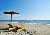 Umbrella on beach — Stock Photo