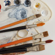 Artistic brush and color — Stock Photo #38286047