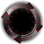 Schaltfläche dienst online — Stockvektor