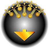 Button service online — Stock Vector