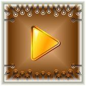 Przycisk play — Wektor stockowy