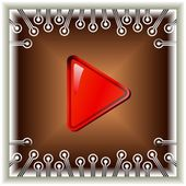 The play button — Stockvector