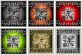 Qr-code-button-set — Stockfoto