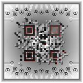 Qr-code — Stockvektor