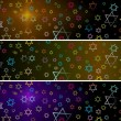Hanukka banners set - Stock Photo