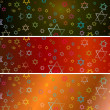Hanukka banners set — Stock Photo