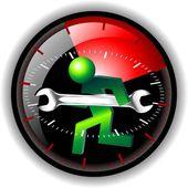24 часа обслуживания логотип — Стоковое фото