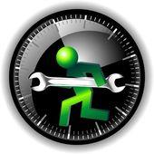 24 hodinová údržba logo — Stock vektor