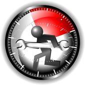 24 godziny konserwacji logo — Wektor stockowy