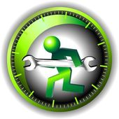 24 hour maintenance logo — Stockvektor