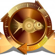 Gold fish button — Stock Photo #12854254